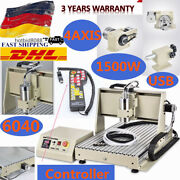 4 Axis 6040 Cnc Router Engraver Drill Milling Machine Wood Art 1.5kw Usb 220v+rc