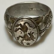 Medieval Silver Ring 13th -15th. Century Ad.