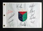 Hall Of Fame Golf Flag Signed By 11 Aftal Rd Coa Player Kite Singh Floyd Irwin