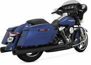 Dresser Dual Exhaust For Harley Flh Flt 2017-2020 12mm And 18mm Bung Black