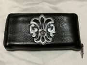 Chrome Hearts Authentic 2 Bs Flare Rec F Zip Wallet Long Wallet