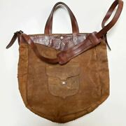 Used Rrl Ridgway Bag Leather Western Suede 2way Shoulder Tote Made In India
