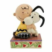 Peanuts Charlie Brown And Snoopy Hugging By Jim Shore Statue
