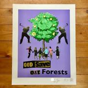 2013 Sex Pistols Jamie Reid God Save Our Forests Silk Screen Poster Only 60 Rare