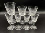 Lot Waterford Crystal Lismore Wine Iced Tea Water Goblet Glass Stems All As Is