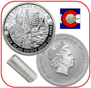 2021 Tuvalu Black Flag The Red Flag Fleet Ching Shih 20 - 1 Oz Silver Coin Roll