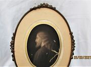 """Rare Antique French Bronze Louis Xvi Oval Picture/photo Frame. 12 """" X 8.75 """"."""