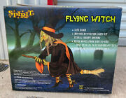2009 Spirit Halloween Flying Witch Animated Prop Decoration Nos/unused Rare