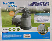 Summer Waves / Polygroup 1400 Gph Pool 10 Sand Filter Pump Brand New Sealed