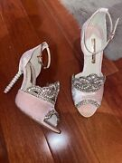 Sophia Webster Pink Princess Crown Shoes Size 40 10 Brand New In Box