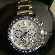 Seiko Astron Sbxc013 Day Date Used World Time Gps Solar Mens Watch Auth Works