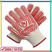 Oven Gloves Silicone Non-slip Mitts Kitchen Grilling Cooking Baking Grill Armor