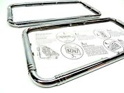 2 - Art Deco 1920and039s 1930and039s Styled Chrome Classic Vintage Car License Plate Frame