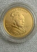 2011-w 1/2 Ounce Gold Uncirculated Coin Us First Gold Spousal Julia Grant 10