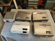 Lot Of 5 Projectors 3 Epson Emp 81. 1 Emp 83h And 1 In Focus Lp240 Parts