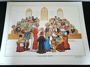 Popeyeand039s Wedding 1987 Signed Will Elder Print Autograph Limited Edition Rare