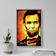 Abraham Lincoln Art Print Photo Poster Gift Quote