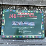 Vintage Regal Revco 140 Lights In Motion Christmas Holiday Twinkle In Sequence