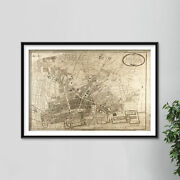 Vintage Map Of Liverpool From 1796 Photo Print Poster Gift Old Ancient Historic