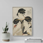 Kitagawa Utamaro - Three Beauties Of The Present Day - Painting Poster Print
