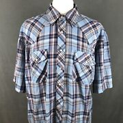 Salmon River Western Clothing Shirt Big And Tall 2xlt Vintage 80s Rodeo Cowboy