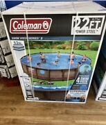 Brand New Coleman 22and039 X 52 Power Steel Round Frame Swimming Pool ⚡️local Cle⚡️