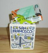 2019 Starbucks San Francisco Been There Ceramic Ornament Tote With Sf Gift Card