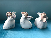 Lladro Vintage Little Angel Trio Set Of 3 Mint In Boxes