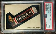 1974 Topps Wacky Packages Footsie Roll 6th Series Psa 9 Mint Non-sport Card