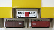 Lot Of 6 Accurail 40' Boxcars Milwaukee Rd./ Cando / Soo Line / Southern
