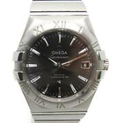 Auth Omega Constellation Co-axial L Chronometer35 Watch Stainless Steel 1198