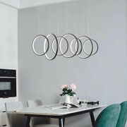 Modern Simple Ceiling Light Led 7 Hollow Round Pendant Lamp Chandelier Max 130w