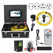 Drain Sewer Inspection Camera 9in Lcd Video Camera Industrial Endoscope 164ft