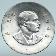 1966 Ireland Easter Rising W Pearse Irish Antique Silver 10 Shilling Coin I89643