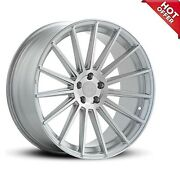 Fits 4ea 22x9/22x10.5 New Staggered Road Force Wheels Rf15 Silver Rims 22 S15