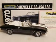 Lane Exact Detail 1970 Chevy Chevelle Ss 454 Ls6 118 Scale Diecast Car 602a