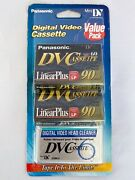 Panasonic Digital Video Cassettes And Dv Head Cleaner Value Pack 2+1 New