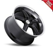 Fits 4ea 19x8/19x9.5 New Staggered Tsw Wheels Stowe Gloss Black Rims 19 S16