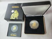 2011 Canada 5 Timber Wolf Wildlife At Night Series Gold Gilded 1oz Silver Coin