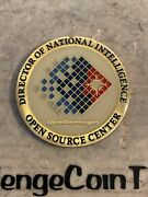 Cia Director Of National Intelligence Open Source Center Challenge Coin
