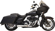 Bassani Stainless Steel Short Megaphone Road Rage 2-into-1 Exhaust System 1f52ss