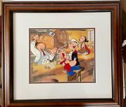 Popeye Cel Orderand039s Up Rare Signed Myron Waldman Edition Cell King Features
