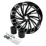 18and039and039 X 5.5and039and039 Rear Wheel Rim Wheel Hub Fit For Harley Touring Street Glide 08-21