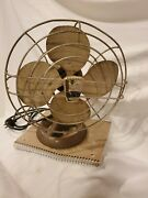 Vintage Emerson Electric 9450 Oscillating Table Fan Works But Doesn't Oscillate