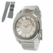Gaga Milano Frame One Quartz 7050.01 Water Proof Menand039s Watch Pre Owned [u0330]