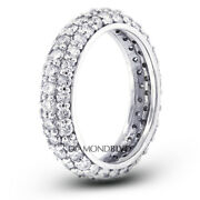 2ct Tw G Si1 Round Brilliant Natural Certified Diamonds 14k Gold Eternity Band