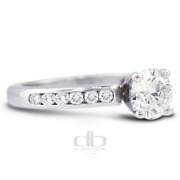 1.12 Ct D/vs2 Round Natural Certified Diamonds 18k Gold Classic Engagement Ring