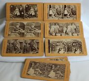 12 Stereograph Cards Tis To Laugh Comic And Groups Wedding Bedroom Kitchen Kids +