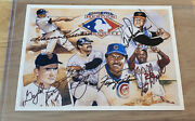 1991 Upper Deck Heroes Of Baseball Promo Card Signed By 6 Legends Jsa Auth.
