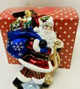 Radko Santa Saves The Date Dated 2020 Sold Out Nib Full Size 6.25andrdquo Glass Poland